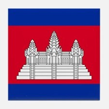Flag of Cambodia Tile Coaster