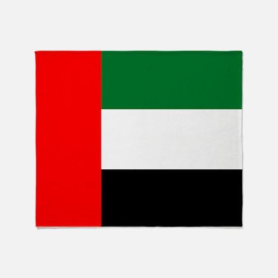 United Arab Emirates Flag Throw Blanket