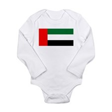 United Arab Emirates Flag Long Sleeve Infant Bodys