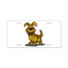 Fuzzy puppy Aluminum License Plate