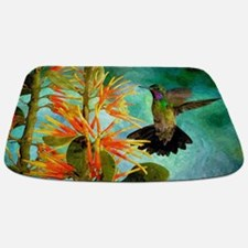 Hummingbird And Flowers Bathmat