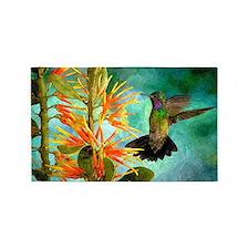 Hummingbird And Flowers Area Rug