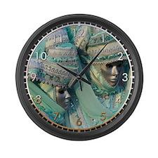 Fancy Dress Couple Large Wall Clock