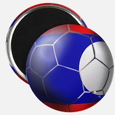Laos Soccer Ball Magnet