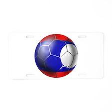 Laos Soccer Ball Aluminum License Plate