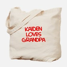 Kaiden Loves Grandpa Tote Bag
