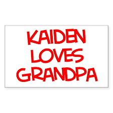 Kaiden Loves Grandpa Rectangle Decal