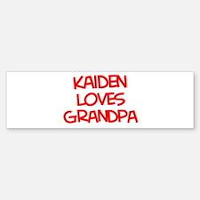 Kaiden Loves Grandpa Bumper Bumper Bumper Sticker
