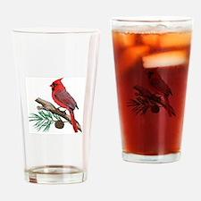 CARDINAL ON PINE Drinking Glass