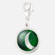 Pakistan Football Silver Round Charm