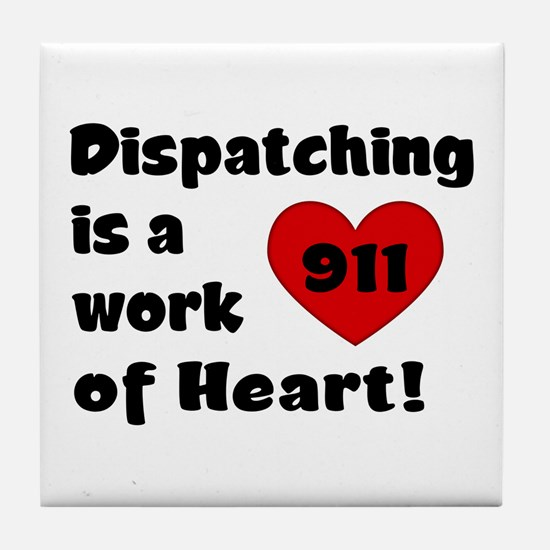 Dispatching Heart Tile Coaster