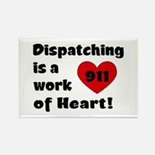 Dispatching Heart Rectangle Magnet