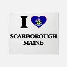 I love Scarborough Maine Throw Blanket
