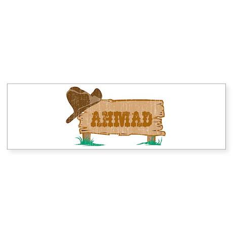 Ahmad western Bumper Sticker