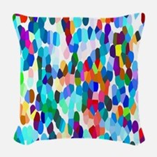 Dancing Dots Woven Throw Pillow