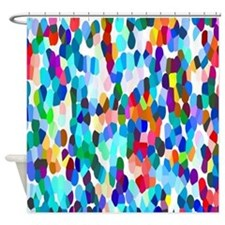 Dancing Dots Shower Curtain