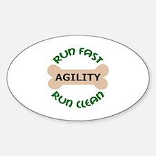 Run Fast Run Clean Decal