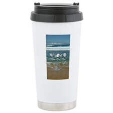 Customized Original Seashell Beach Art Travel Mug