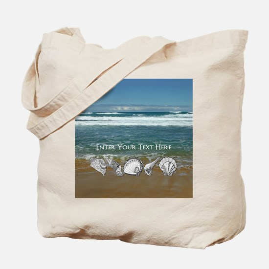 Customized Original Seashell Beach Art Tote Bag