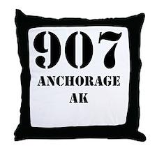907 Anchorage AK Throw Pillow