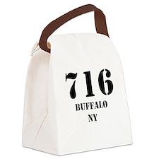 716 Buffalo NY Canvas Lunch Bag