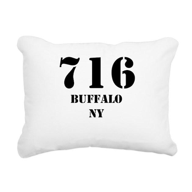 716 Buffalo NY Rectangular Canvas Pillow By CityAreaCodes