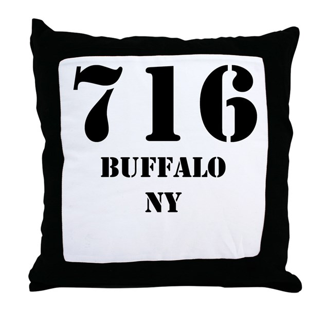 716 Buffalo NY Throw Pillow By CityAreaCodes
