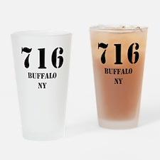 716 Buffalo NY Drinking Glass