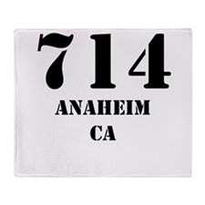 714 Anaheim CA Throw Blanket