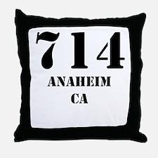 714 Anaheim CA Throw Pillow