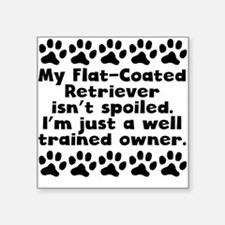 My Flat-Coated Retriever Isnt Spoiled Sticker