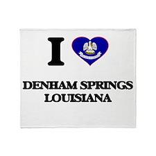 I love Denham Springs Louisiana Throw Blanket