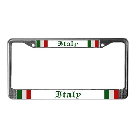 """Italy Flag"" License Plate Frame"