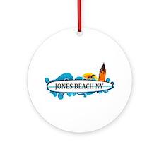 Amelia Island - Beach Design. Ornament (round)