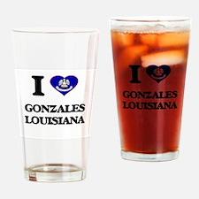 I love Gonzales Louisiana Drinking Glass