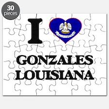 I love Gonzales Louisiana Puzzle