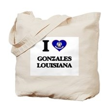 I love Gonzales Louisiana Tote Bag