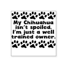 My Chihuahua Isnt Spoiled Sticker