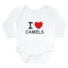 Cute Camelidae Long Sleeve Infant Bodysuit