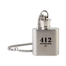 412 Pittsburgh PA Flask Necklace