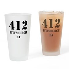 412 Pittsburgh PA Drinking Glass