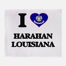 I love Harahan Louisiana Throw Blanket