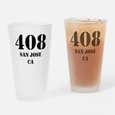 408 San Jose CA Drinking Glass