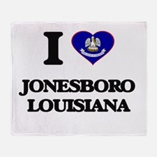 I love Jonesboro Louisiana Throw Blanket