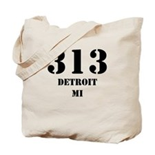 313 Detroit MI Tote Bag