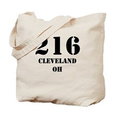 216 Cleveland OH Tote Bag
