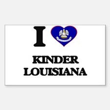I love Kinder Louisiana Decal