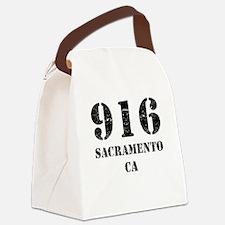 916 Sacramento CA Canvas Lunch Bag