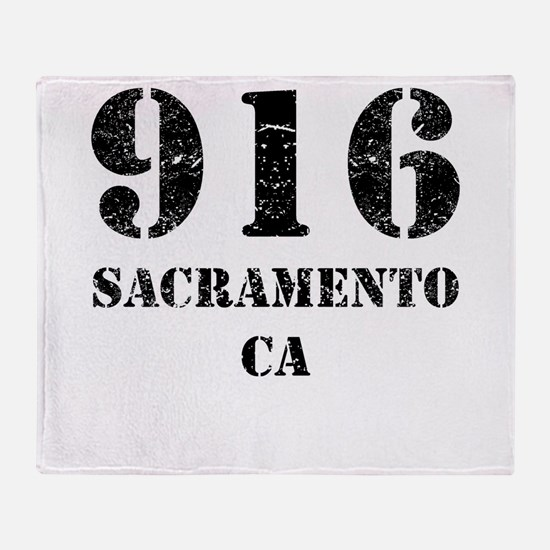916 Sacramento CA Throw Blanket