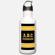 Black Yellow Jersey St Sports Water Bottle